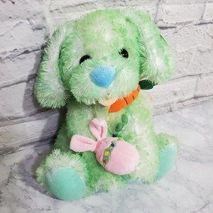 Plush Easter Dog Green 11 Inch NWT